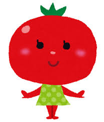 コラムにトマト